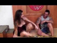 As panteras porno com fã realizando seu sonho de transar com atriz porno