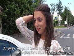 Sexo na rua com uma bela novinha