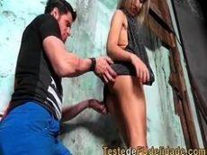 Pegando favelada gostosa no porno nacional